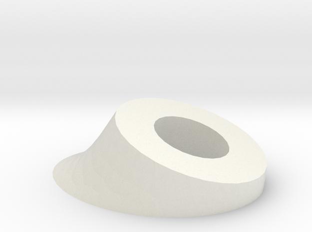 Ear Base in White Natural Versatile Plastic
