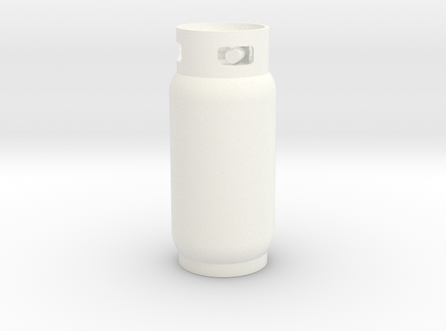 Propane Tank 40lbs 1/10 scale in White Strong & Flexible Polished