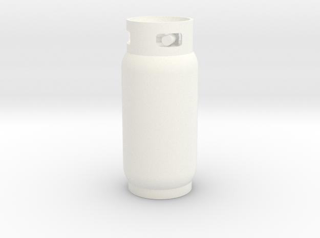Propane Tank 40lbs 1/10 scale in White Processed Versatile Plastic