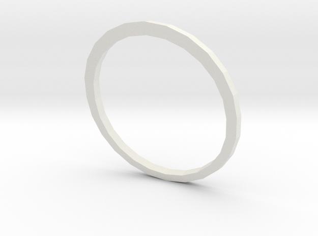 Anel Tríade (piece 2) in White Natural Versatile Plastic