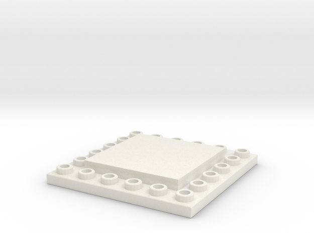 CustomMaker BrickFrame LowProfile 6x6x2 in White Natural Versatile Plastic