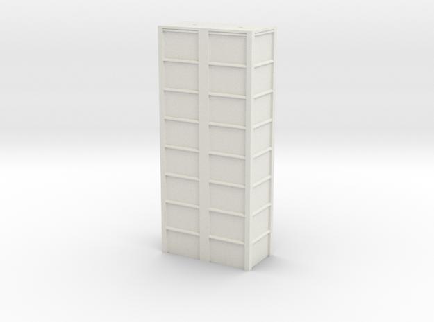 'N Scale' - 16'x8'x40' Loadout Bin in White Natural Versatile Plastic