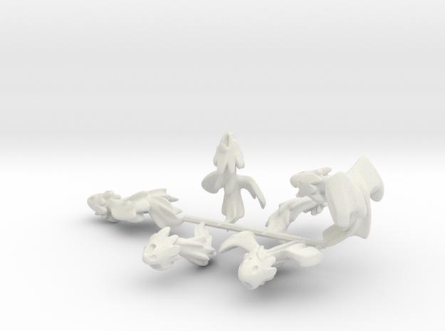 Jujoban Plasma Dragon Mechs 3d printed