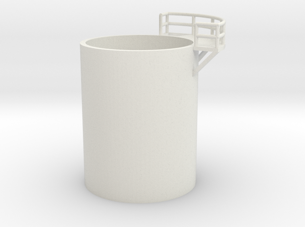 'N Scale' - Distillation Tower - Middle-Left in White Natural Versatile Plastic