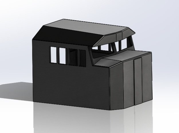 1:87 Crescent Cab (HO) Scale  in Smooth Fine Detail Plastic