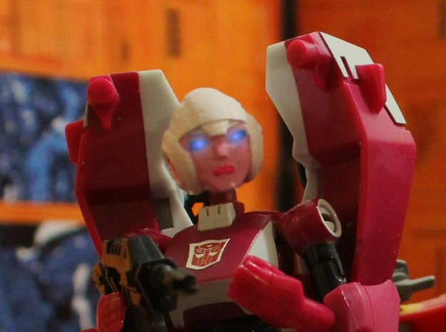 Ani Arce Head 3d printed Animated Arcee G1 Head