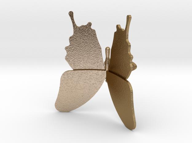 Butterfly Cufflinks in Polished Gold Steel