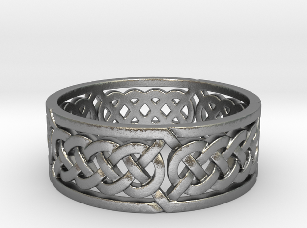 Celtic Quad Knot Ring in Raw Silver