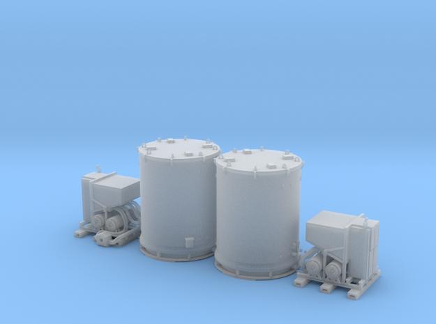 N scale 1/160 Titan Rocket container & A/C unit x2