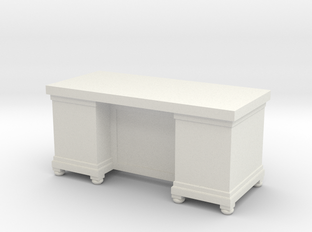 Miniature 1:48 LBJ Presidential Desk in White Natural Versatile Plastic
