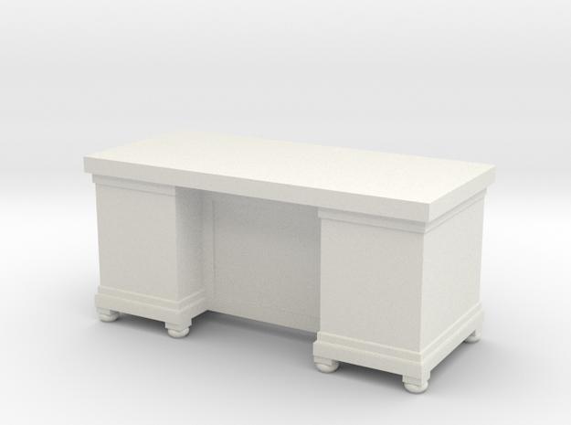 Miniature 1:48 LBJ Presidential Desk in White Natural Versatile Plastic