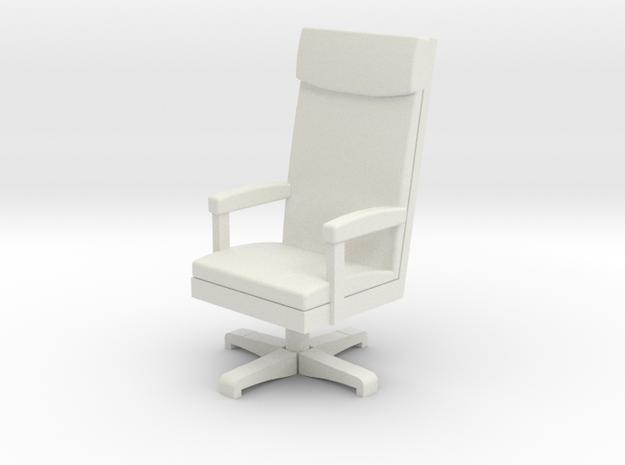 Miniature 1:48 LBJ Presidential Chair in White Natural Versatile Plastic