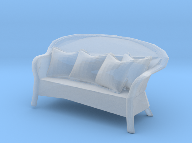 Miniature 1:48 Wicker Sofa in Smooth Fine Detail Plastic
