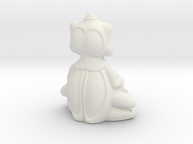 BBUDA STL 6 in White Natural Versatile Plastic