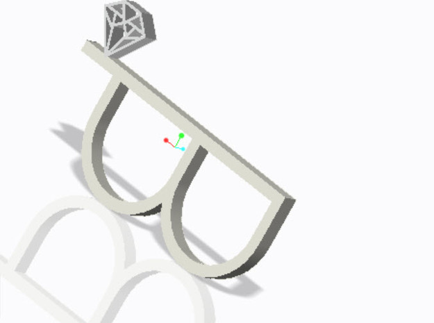 diamond double ring 3d printed