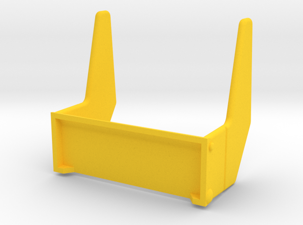Playmobil Top Agents 4876, rear fins (2 of 4) in Yellow Processed Versatile Plastic
