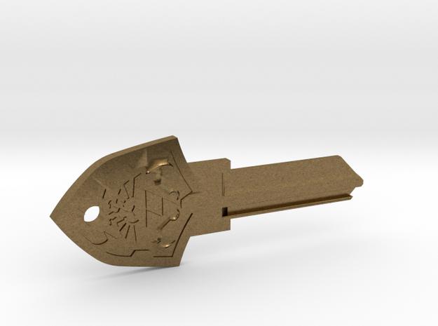 Zelda Shield House Key Blank - KW1/66 in Natural Bronze