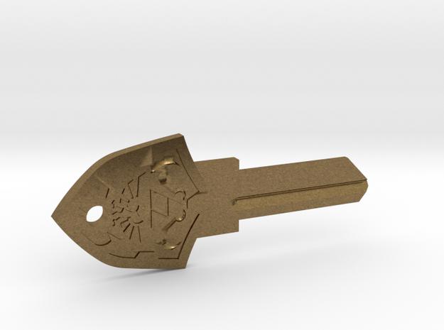 Zelda Shield House Key Blank - SC1/68 in Natural Bronze