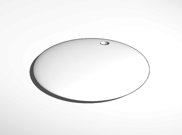 keychain tag round thin engrave in White Natural Versatile Plastic