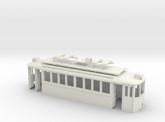 G2 Wiener Strassenbahn Gehäuse Türen offen in White Strong & Flexible