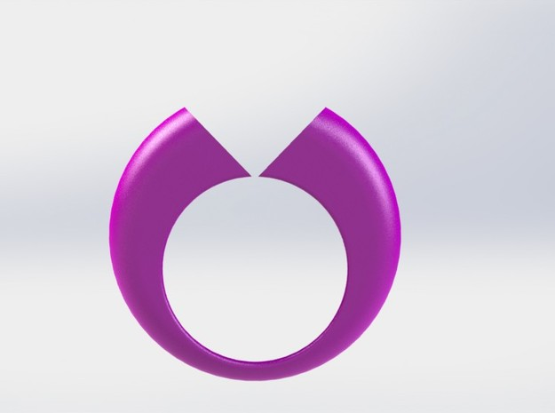 Lovers Ring 02 D19mm Size 9 in Purple Strong & Flexible Polished