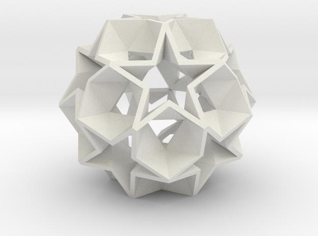 12 Star Ball - 3.4 cm in White Strong & Flexible