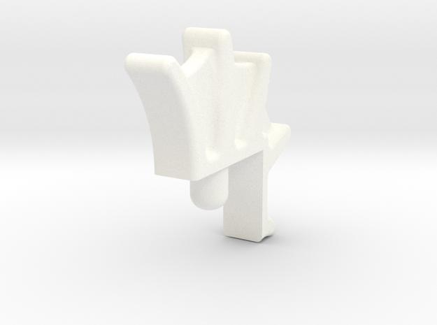 Tiger Fin2 in White Processed Versatile Plastic