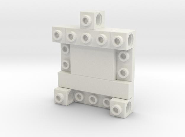 CustomMaker BrickeyChain in White Natural Versatile Plastic