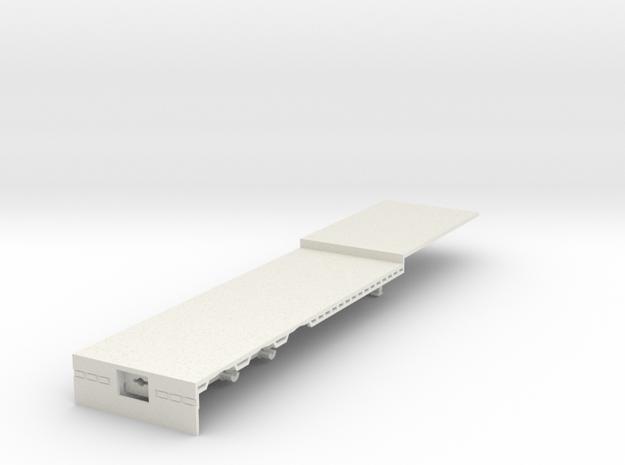 000236 Australian Road Train HO 1:87 in White Natural Versatile Plastic