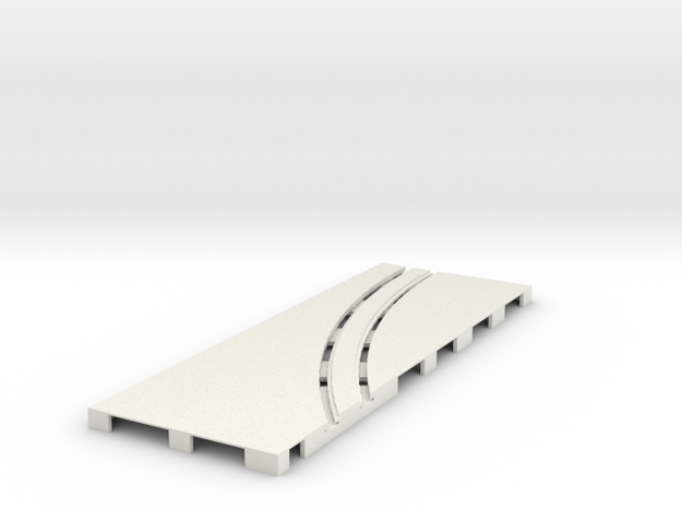 P-65stp-straight-lh-curve-outer-145r-75-pl-1a in White Natural Versatile Plastic