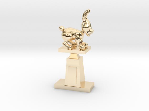 Throphy in 14k Gold Plated Brass