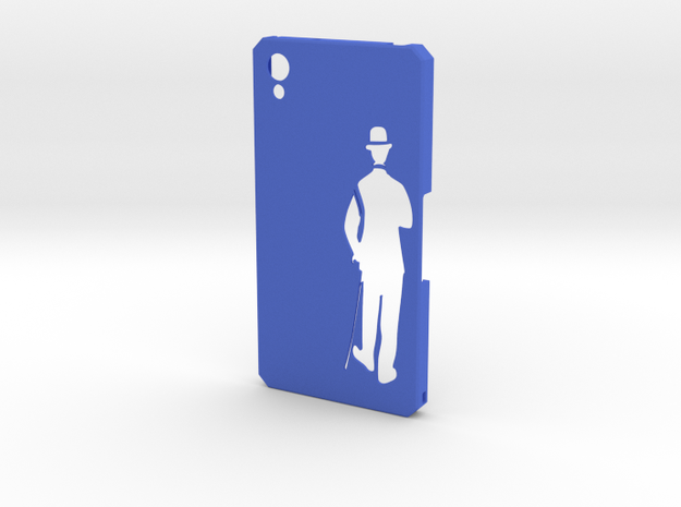 Sony Xperia Z2 Charlie Chaplin in Blue Strong & Flexible Polished