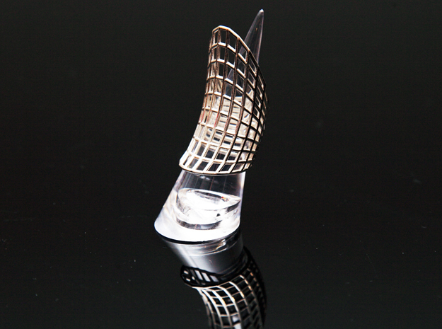 Vortex Ring in Polished Silver