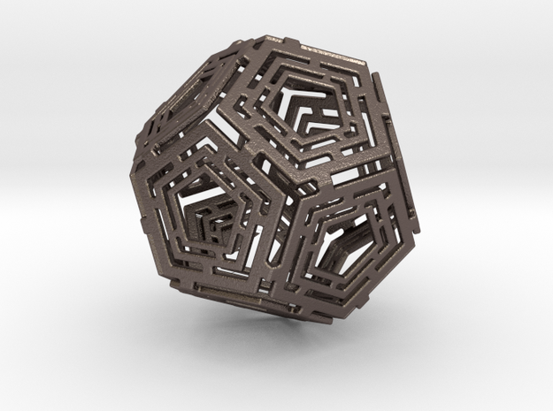 Dohega Connections (in Steel) in Polished Bronzed Silver Steel