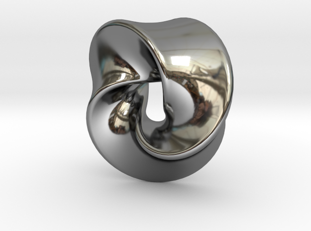 TriangleSwirl360 in Fine Detail Polished Silver
