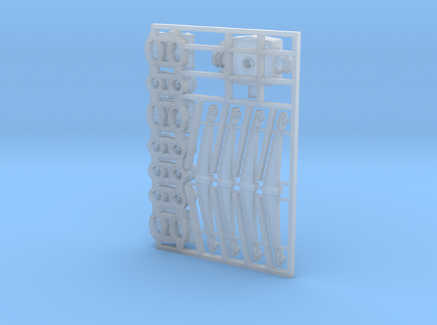GNR(I) AEC axleboxes & springs 7mm scale 3d printed