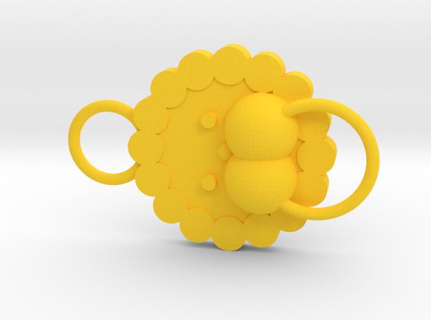 Pon de Lion - normal face in Yellow Processed Versatile Plastic