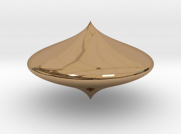Bell shape scopperil in Polished Brass