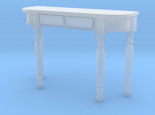 1:24 Colonial Console Table in Smooth Fine Detail Plastic