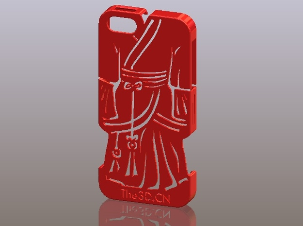 iPhone5_The Chinese Style -- Ancient costume 05 in Red Strong & Flexible Polished