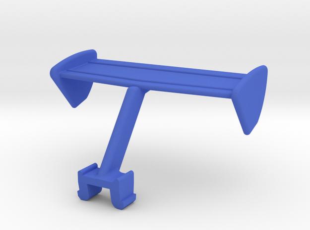 M.A.S.K. Goliath racecar rear spoiler. in Blue Processed Versatile Plastic
