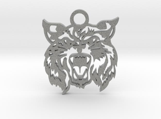 Bobcat amulet in Metallic Plastic