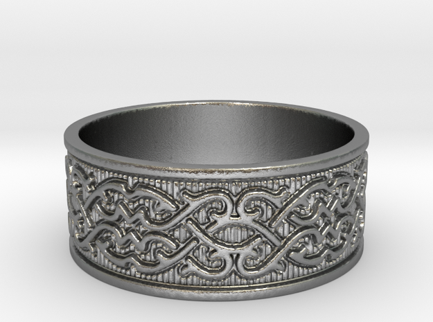 Infinite Arabesque Ring in Natural Silver
