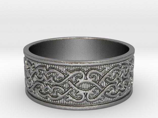 Infinite Arabesque Ring in Raw Silver