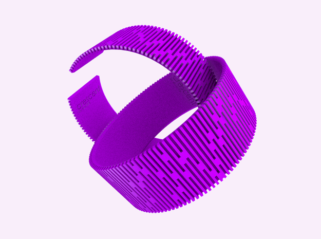 Crescent Bracelet (M) 3d printed Cheerful taste with Violet Purple