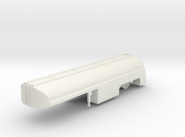 "1/50th Fruehauf 33' ""Duel' Tanker Trailer in White Natural Versatile Plastic"