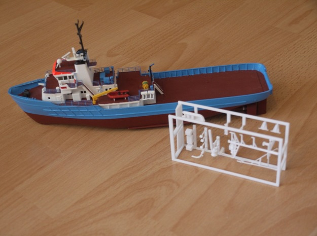 MV Anticosti, Details 1/2 (1:200, RC ship) in White Processed Versatile Plastic