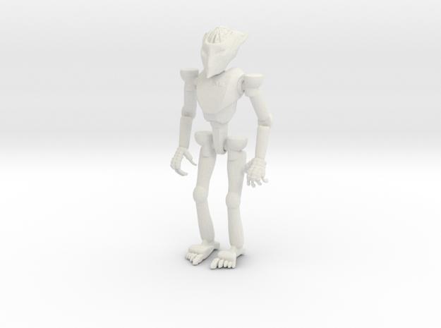 Robot Small in White Natural Versatile Plastic