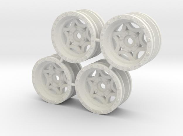 Rim Walker Evans stock offset - Losi McRC/Trekker in White Natural Versatile Plastic