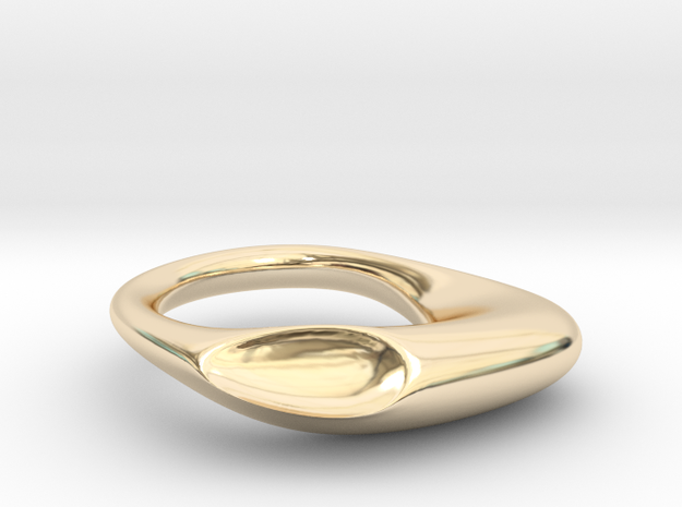 Shemoore Conchiglia Ring in 14k Gold Plated